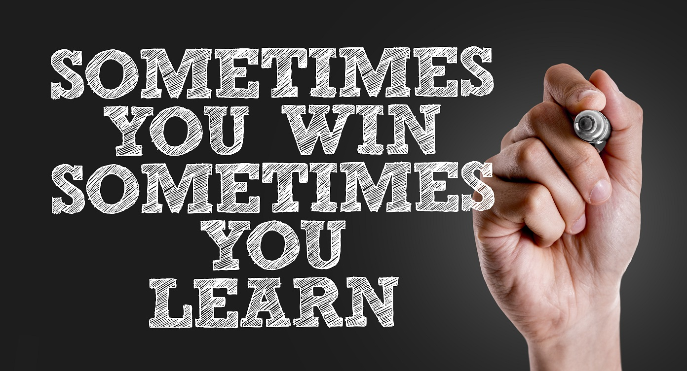 Why is sharing failure more powerful than sharing success? Because sometimes you win, and sometimes you learn.